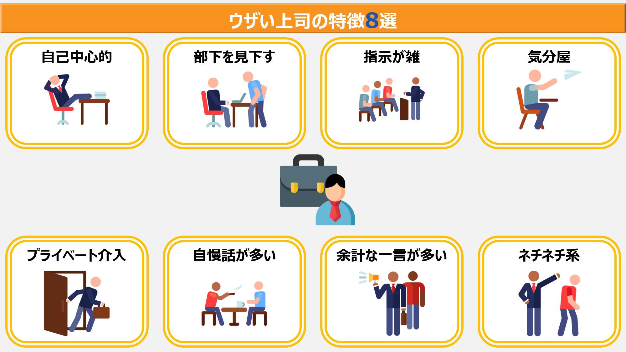 ウザい上司の特徴8選